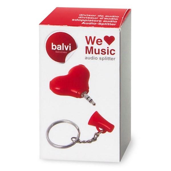 Брелок аудио сплиттер для наушников We Love Music